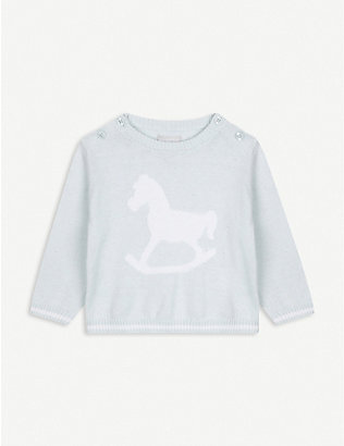 THE LITTLE TAILOR: Rocking horse knitted jumper 0-12 months