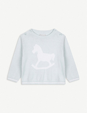 THE LITTLE TAILOR Rocking horse knitted jumper 0-12 months