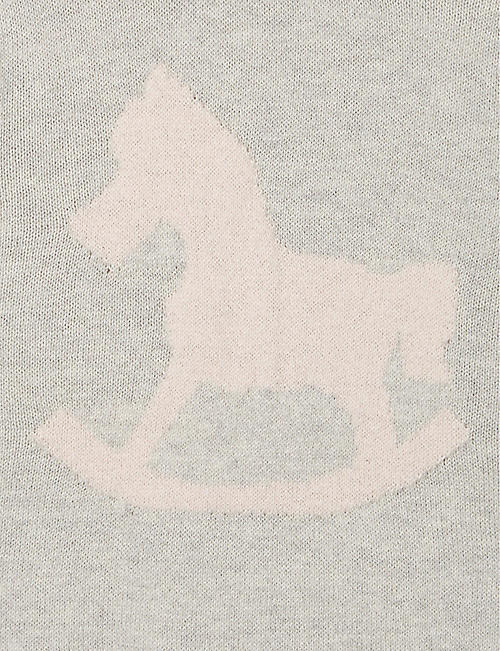 THE LITTLE TAILOR Rocking horse cotton jumper 0-12 months
