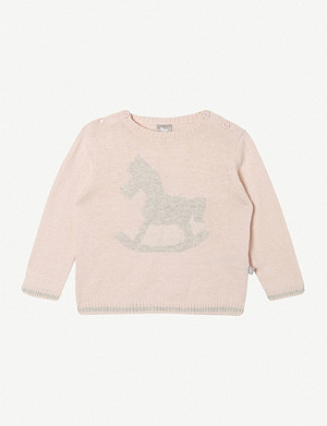 THE LITTLE TAILOR Rocking horse cotton jumper 0-9 months