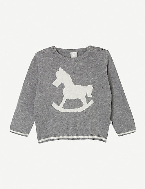 THE LITTLE TAILOR Rocking horse jumper 0-12 months