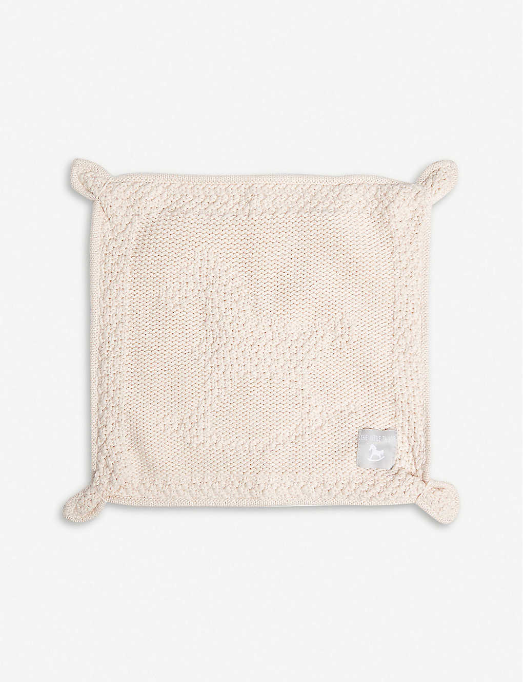 THE LITTLE TAILOR: Knitted cotton blankie
