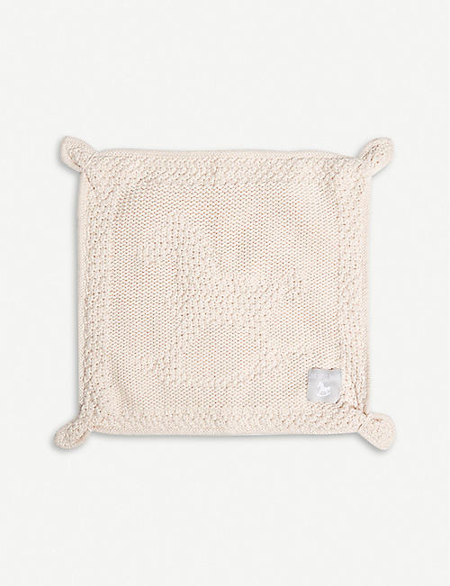 THE LITTLE TAILOR Knitted cotton blankie