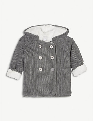 THE LITTLE TAILOR: Plush-lined double-breasted cotton coat 0-12 months