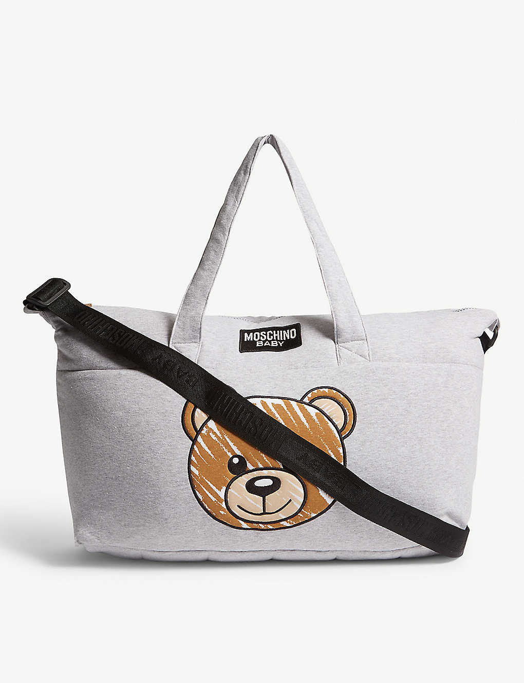 6648b6f71a30 MOSCHINO - Logo cotton-blend baby changing bag and blanket ...