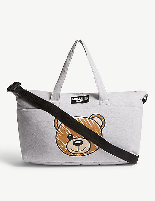 be071fae7e8 MOSCHINO Logo cotton-blend baby changing bag and blanket