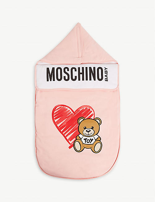 MOSCHINO Toy bear cotton-blend baby nest