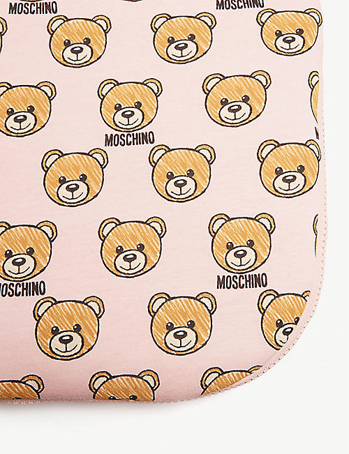 MOSCHINO Logo cotton baby nest