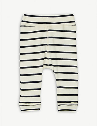 ORGANIC ZOO: Breton striped organic-cotton trousers 3-36 months