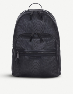 TIBA + MARL Elwood snake-embossed backpack