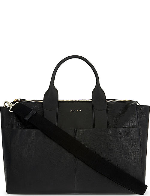 JEM + BEA Jemima leather changing bag