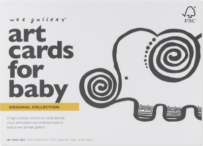 WEE GALLERY Original art cards for baby set of six