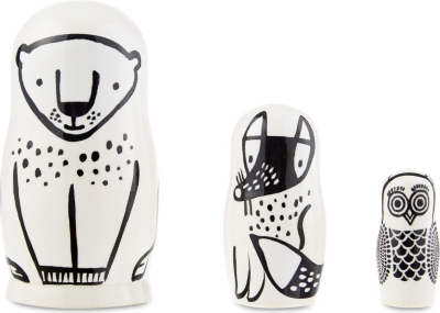 WEE GALLERY Forest wooden nesting dolls