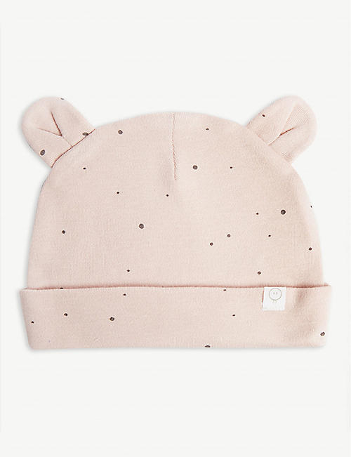 98063af9ad5 BABY MORI Spotted cotton ear hat 0-24 months