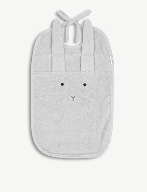 LIEWOOD Theo Rabbit organic cotton bib