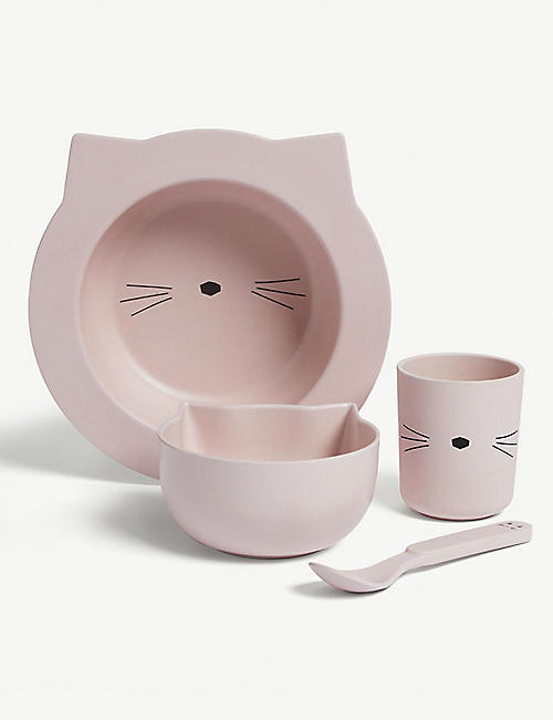 LIEWOOD Barbara bamboo animal tableware gift set