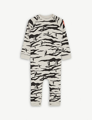 SCAMP & DUDE Animal-print cotton babygrow 0-3 years