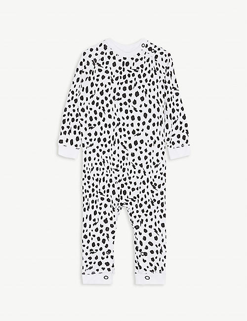 SCAMP & DUDE Cheetah spot cotton baby grow 0-24 months
