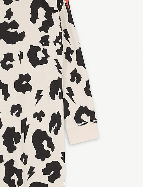 SCAMP & DUDE Leopard print cotton babygrow 0-3 years