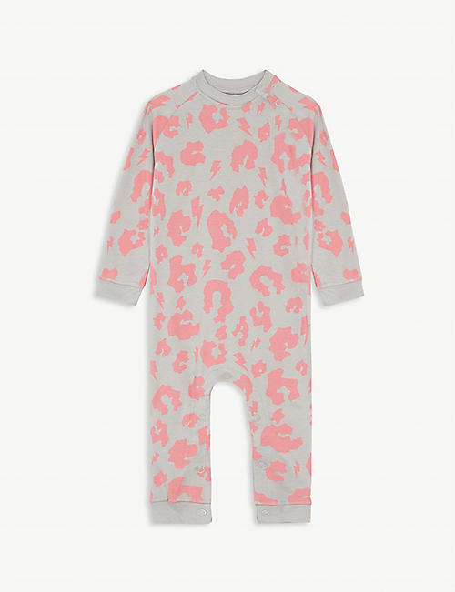 SCAMP & DUDE Leopard spot cotton baby grow 0-24 months