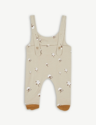 ORGANIC ZOO Floral dungarees 0-12 months