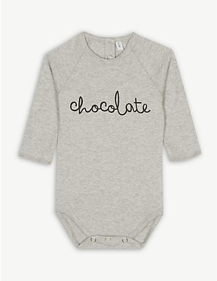ORGANIC ZOO: Chocolate organic cotton bodysuit 0-12 months