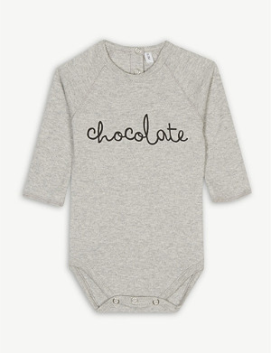 ORGANIC ZOO Chocolate cotton bodysuit 0-12 months
