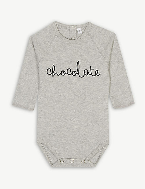 ORGANIC ZOO: Chocolate organic cotton bodysuit 0-18 months