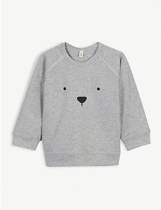 ORGANIC ZOO: Bear organic cotton sweatshirt 0-36 months