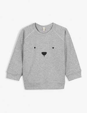 ORGANIC ZOO Bear organic cotton sweatshirt 0-36 months