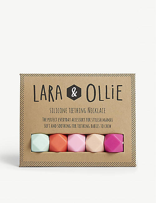 LARA & OLLIE: Hexagon teething necklace