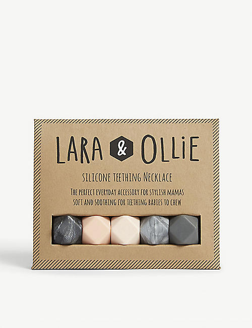 LARA & OLLIE Hexagon teething necklace
