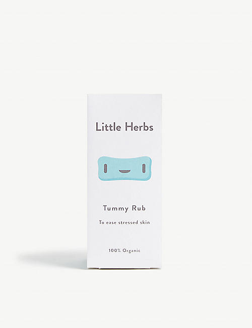 LITTLE HERBS Organic tummy rub massage oil 100ml