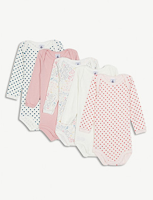 PETIT BATEAU Set of five babygrows 3-36 months