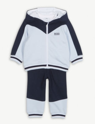 BOSS Colour-block tracksuit and T-shirt set 1-18 months
