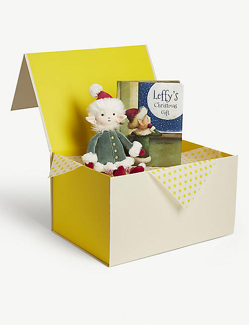 JELLYCAT Leffy Elf soft toy and book hamper
