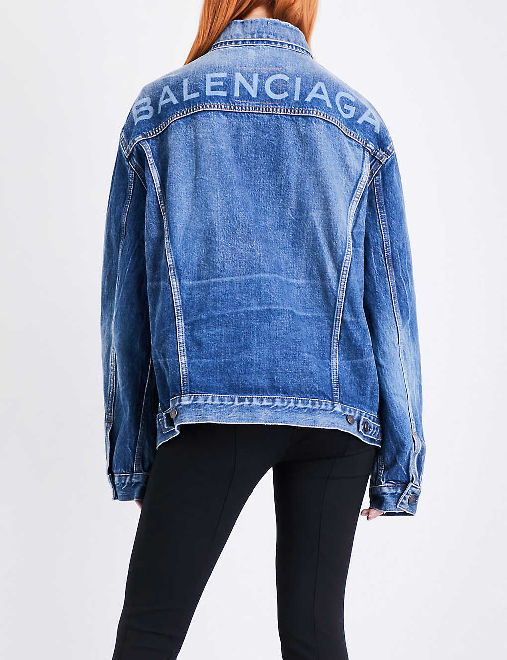 d985bc905f325 BALENCIAGA - Like A Man oversized denim jacket