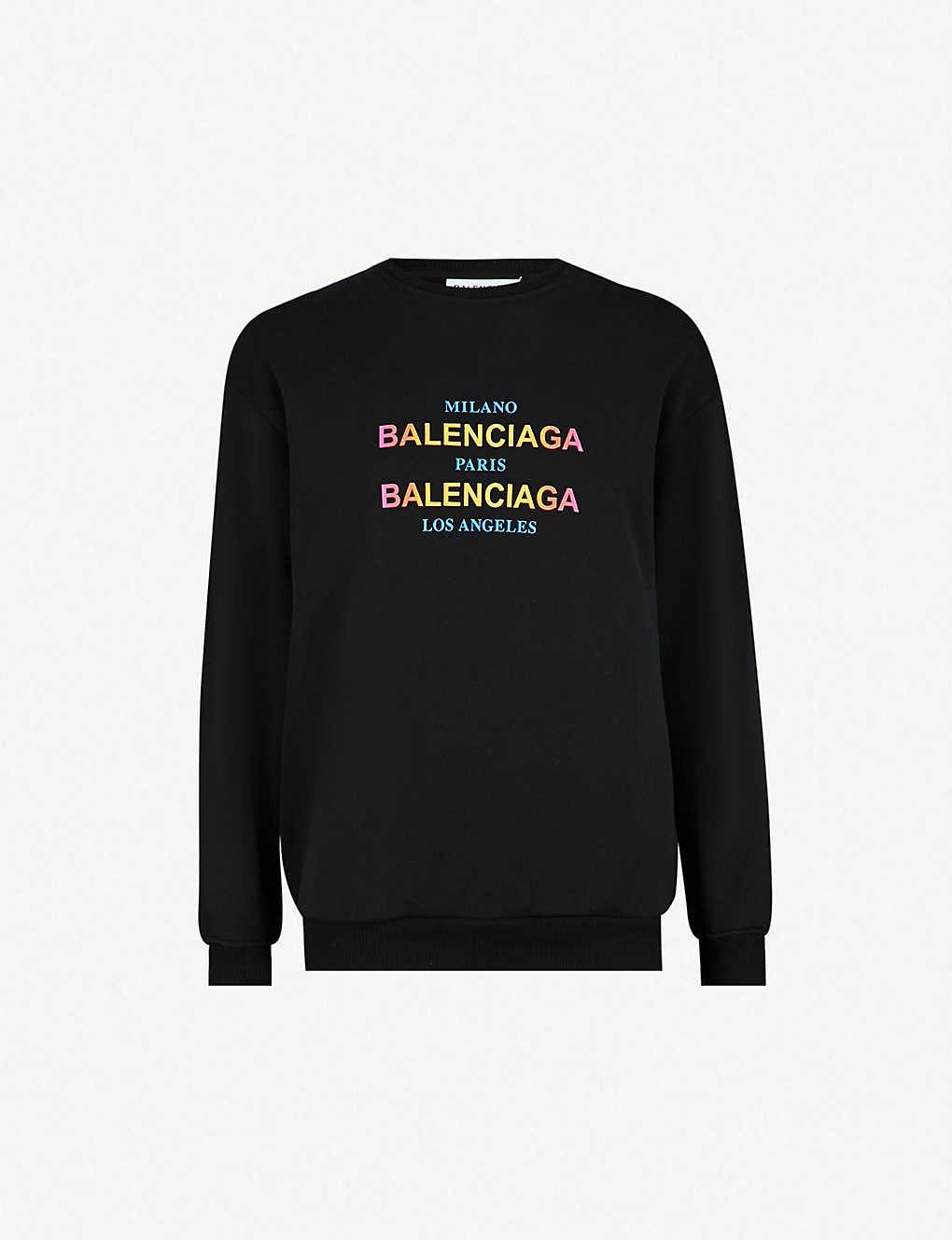 0db3d18ff BALENCIAGA - Oversized cotton-jersey sweatshirt   Selfridges.com