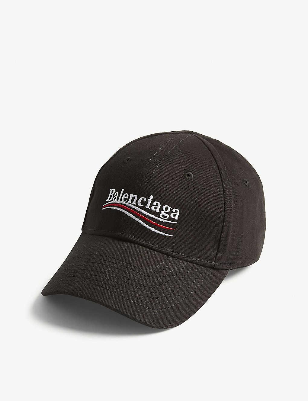 0a5668afe88 BALENCIAGA - Bernie logo cotton strapback cap