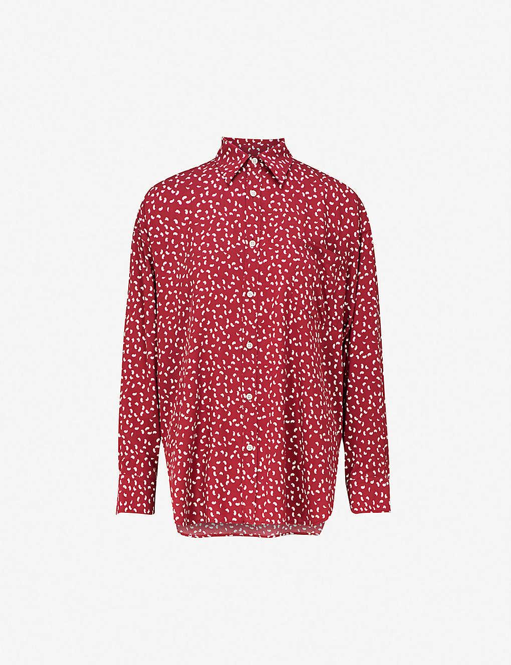 2aab4bf68fb4 BALENCIAGA - Masculin printed cotton-poplin shirt   Selfridges.com