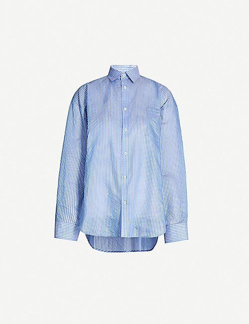bca58b51c2b BALENCIAGA Striped cotton-blend shirt