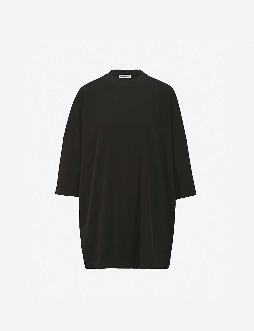 c92f4dfc980a BALENCIAGA - Ego oversized cotton-jersey T-shirt | Selfridges.com