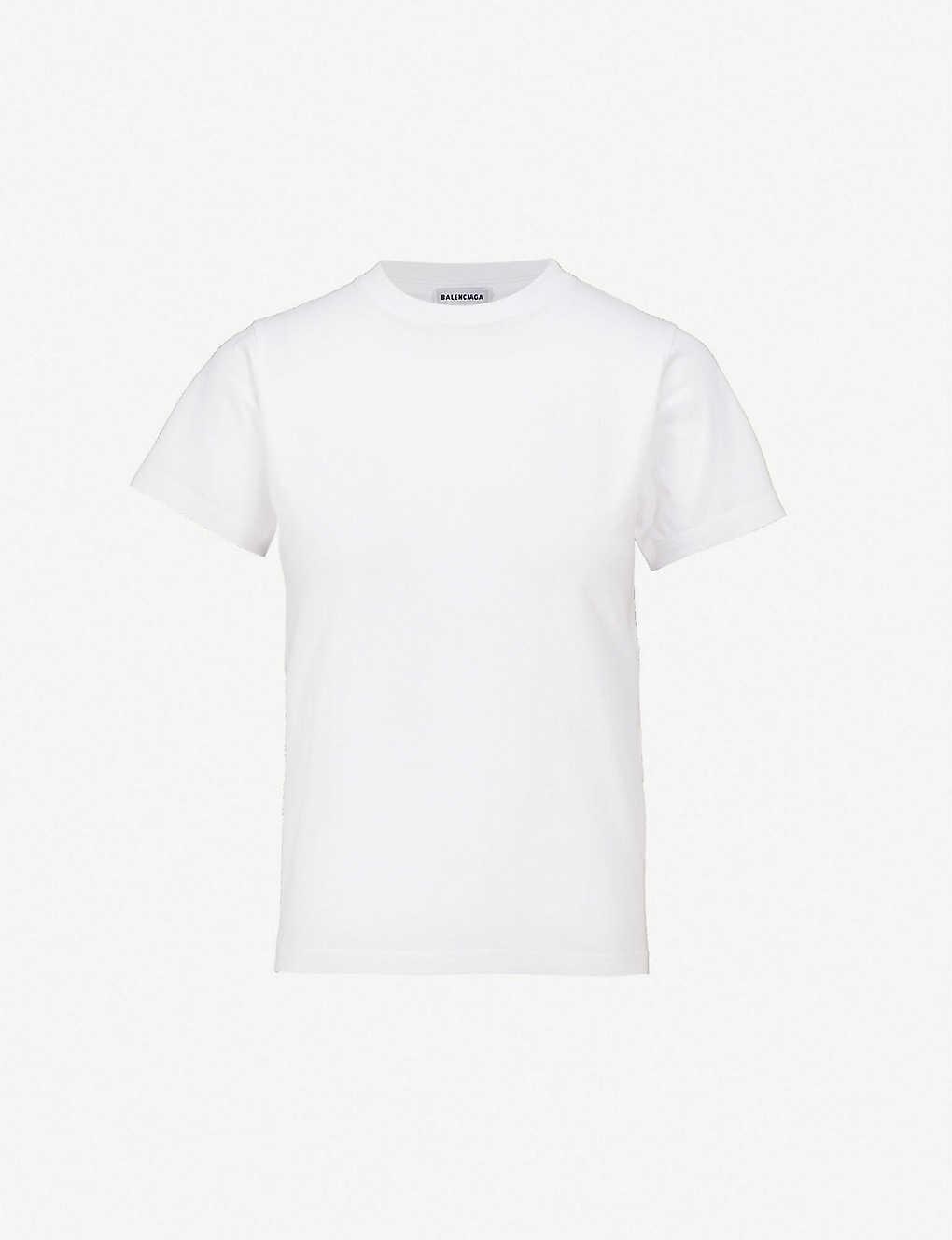 b04375cbf963 BALENCIAGA - Ego-print cotton-jersey T-shirt | Selfridges.com