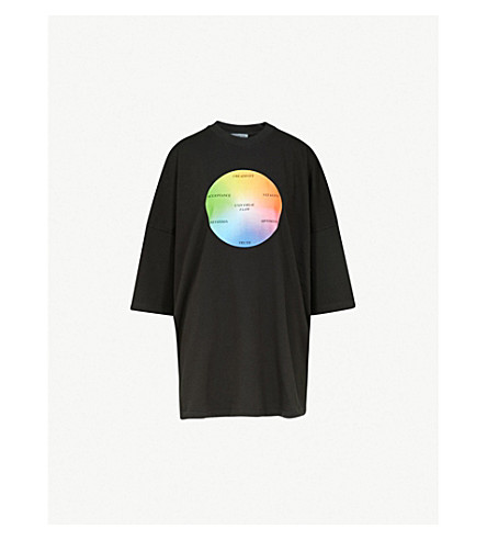 8ab2508d7 BALENCIAGA Universal Flow oversized cotton-jersey T-shirt (Black