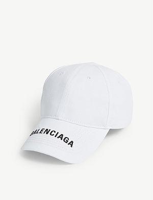 ad7e0b4e023 BALENCIAGA - Bernie logo cotton strapback cap