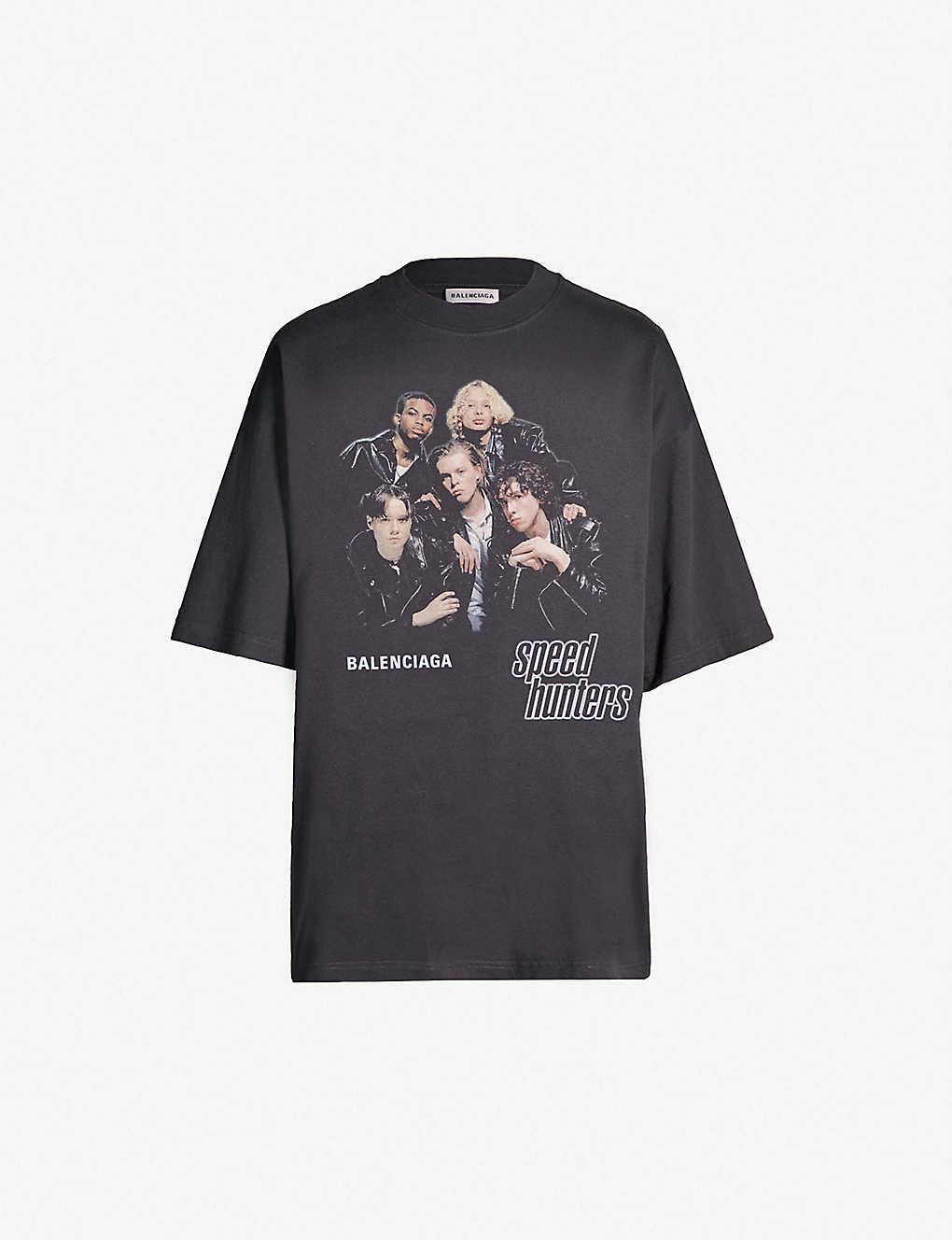 6511cb01902b BALENCIAGA - Speedhunters-print oversized cotton-jersey T-shirt |  Selfridges.com