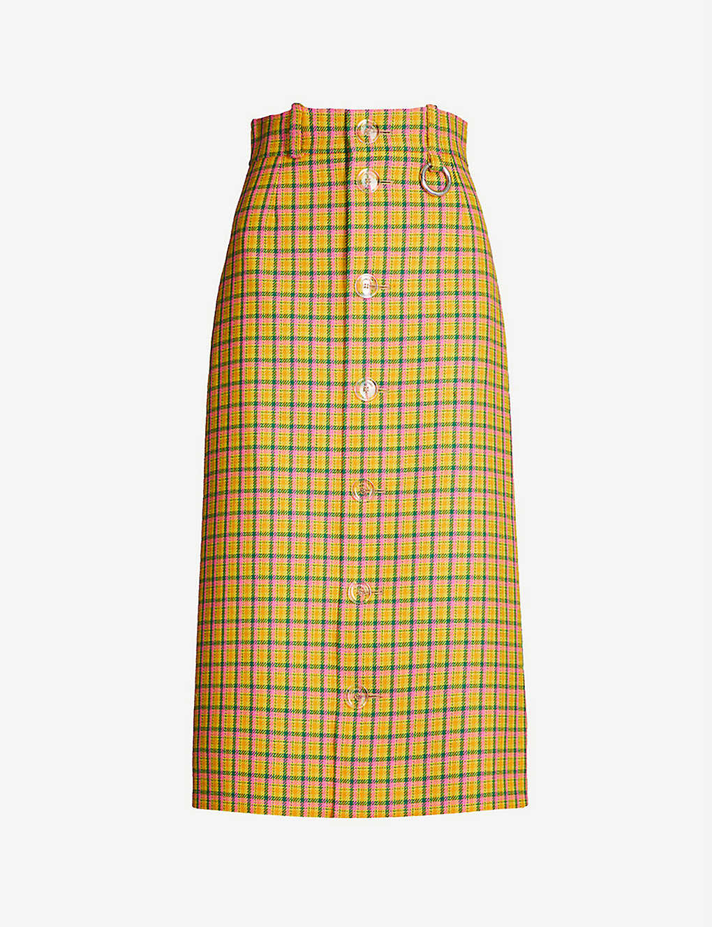 449be72e06 BALENCIAGA - Checked wool pencil skirt | Selfridges.com