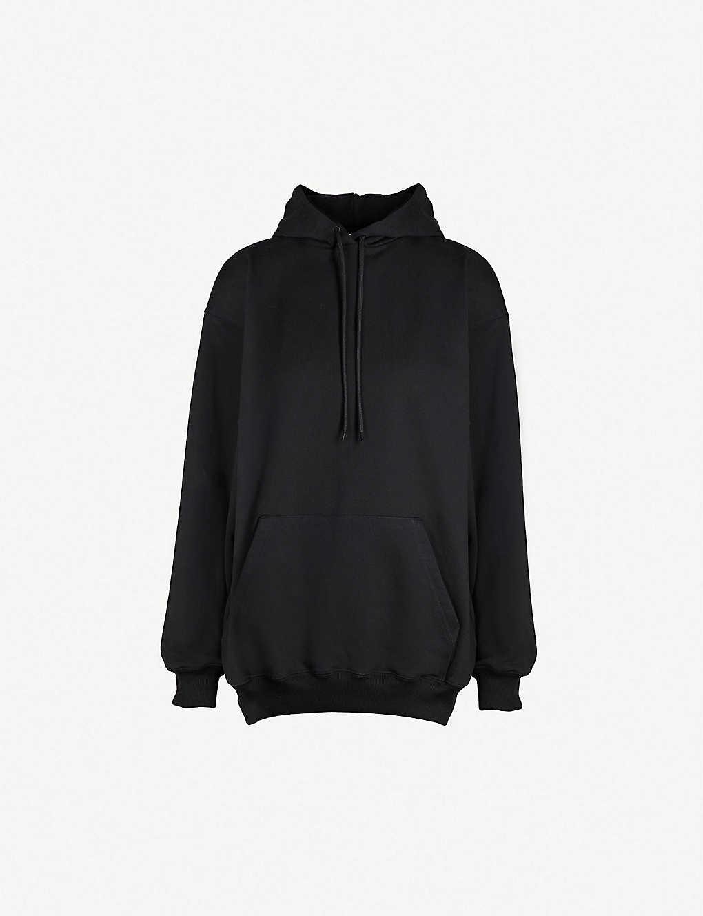 Balenciaga Tops Logo-print cotton-jersey hoody