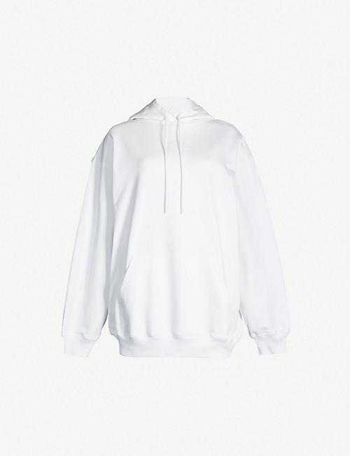 f74ee527c5 BALENCIAGA Logo-print cotton-jersey hoody