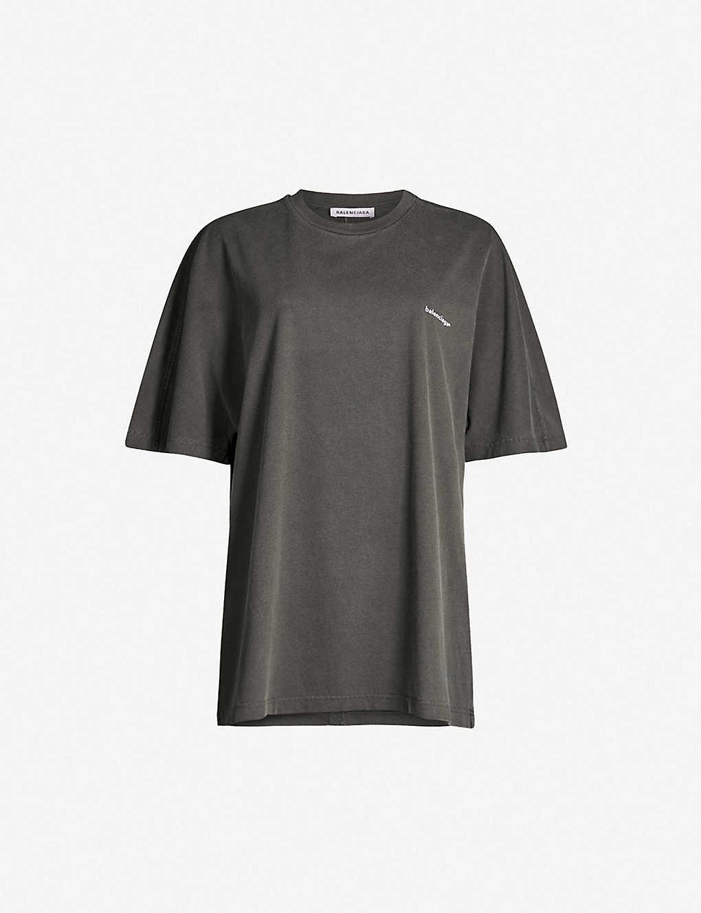 Balenciaga Shirts Oversized cotton-jersey T-shirt